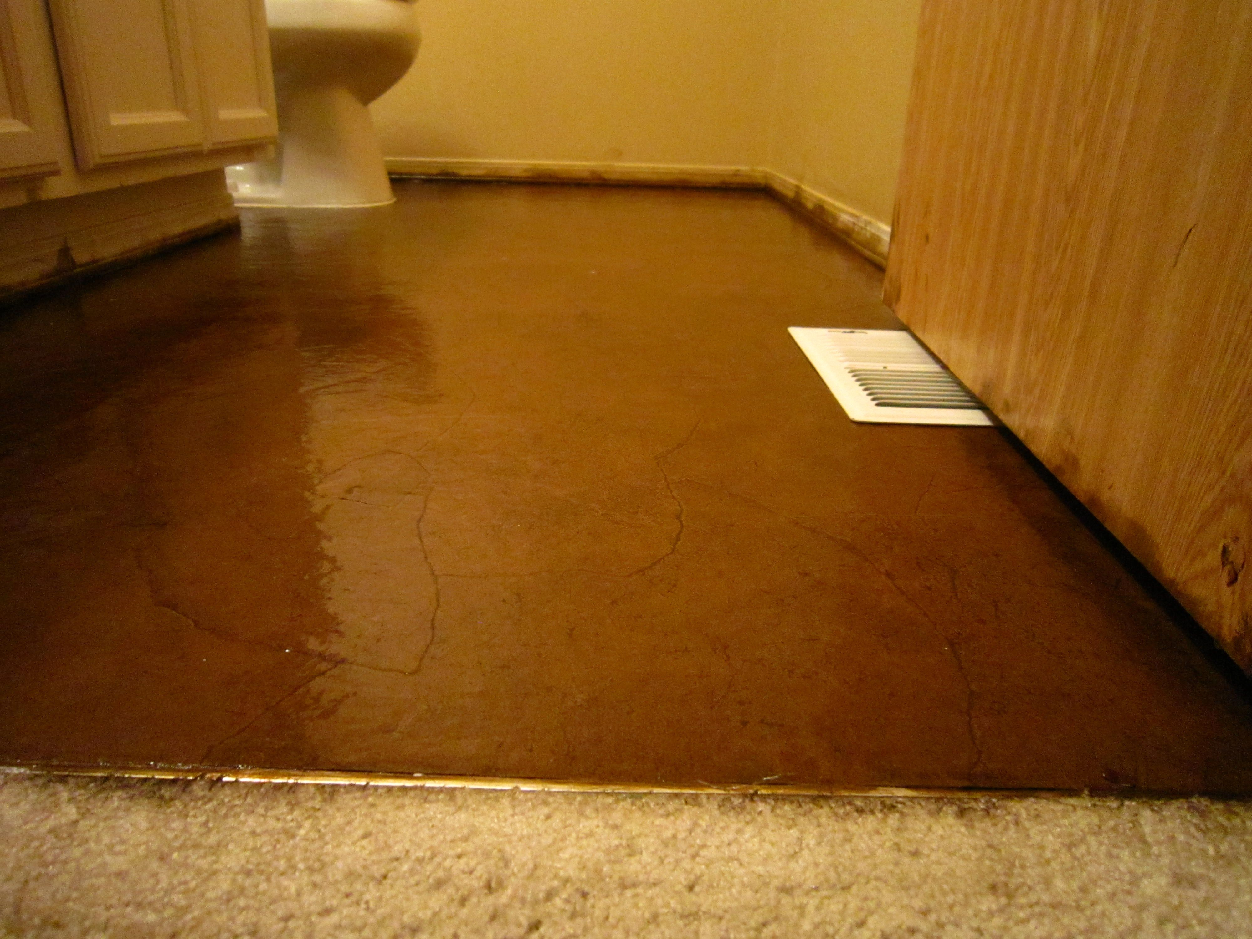 Diy stained brown paper floor awesomeness under 30 do it yourself diy stained brown paper floor awesomeness under 30 do it yourself hardwoodlaminate floor alternative solutioingenieria Image collections