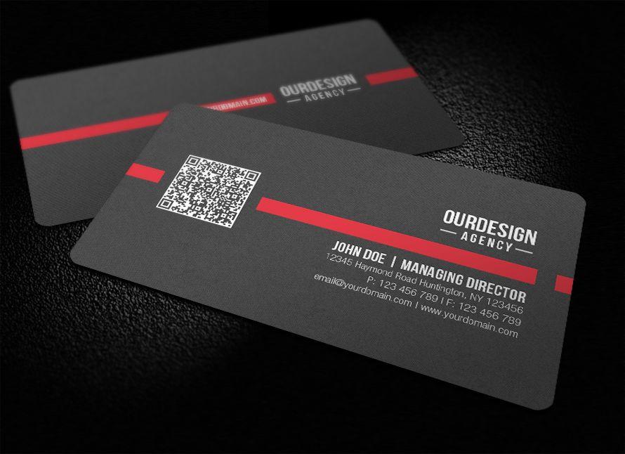 RoundedCornerQRCodeBusinessCardbyglenngohdeviantartcom - Rounded business card template