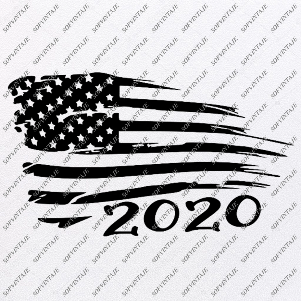 Black and white American Flag | Free SVG