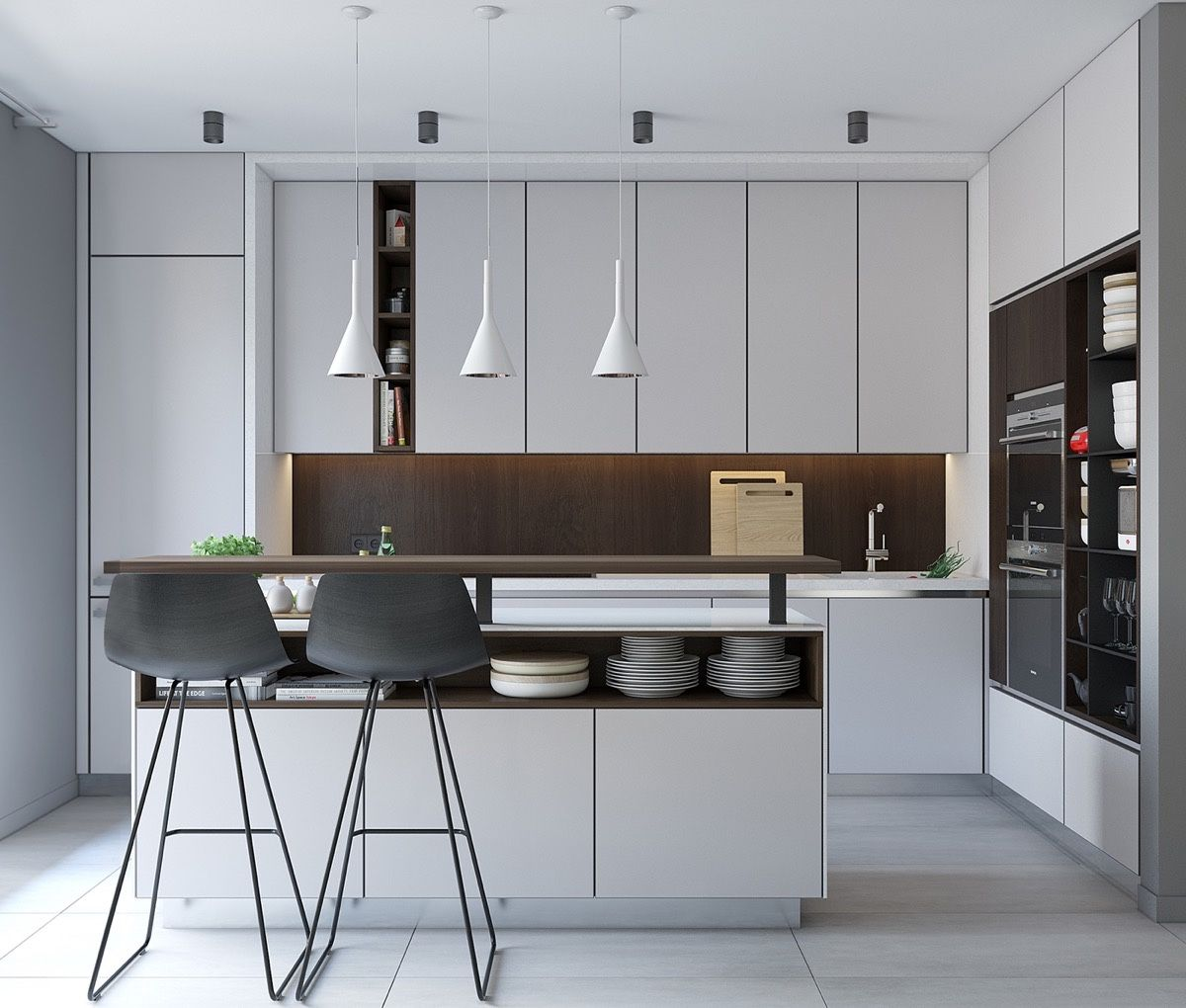 50 Modern Kitchen Designs That Use Unconventional Geometry ...