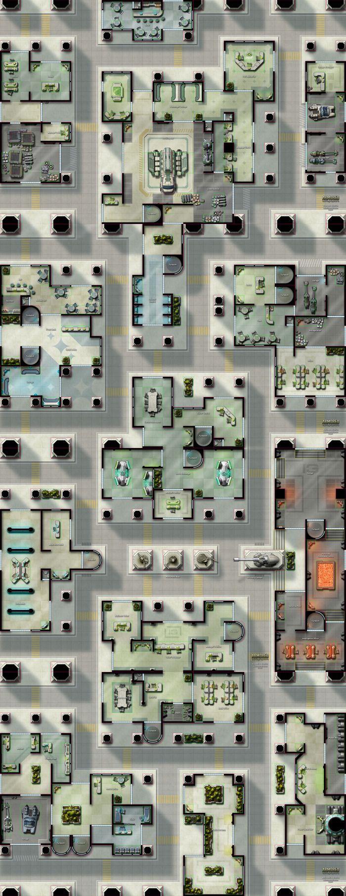Quot Capital City Quot Sci Fi Map Pack Kickstarter D Fantasy