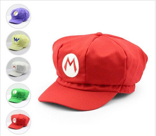 b5acd3d2761a 5 Clolours Super Mario Brothers Cute Mario and Luigi Cotton Hat Costume  Adult Unisex Big Dome Hat Nintendoo Games Cosplay an383