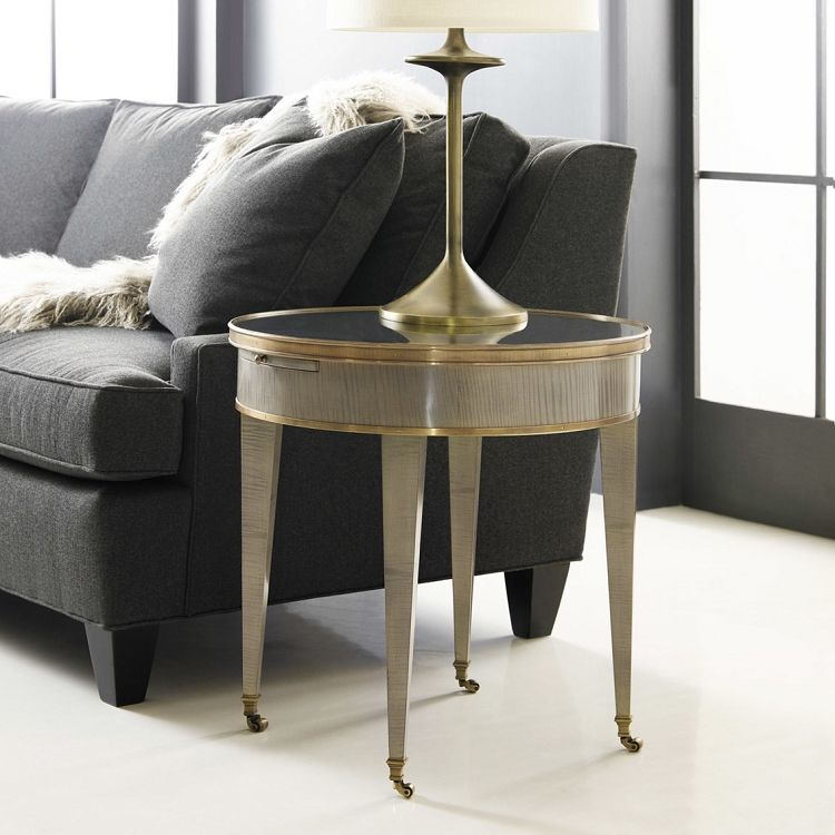 Modern History Tuxedo End Table Grey Sycamore With Images