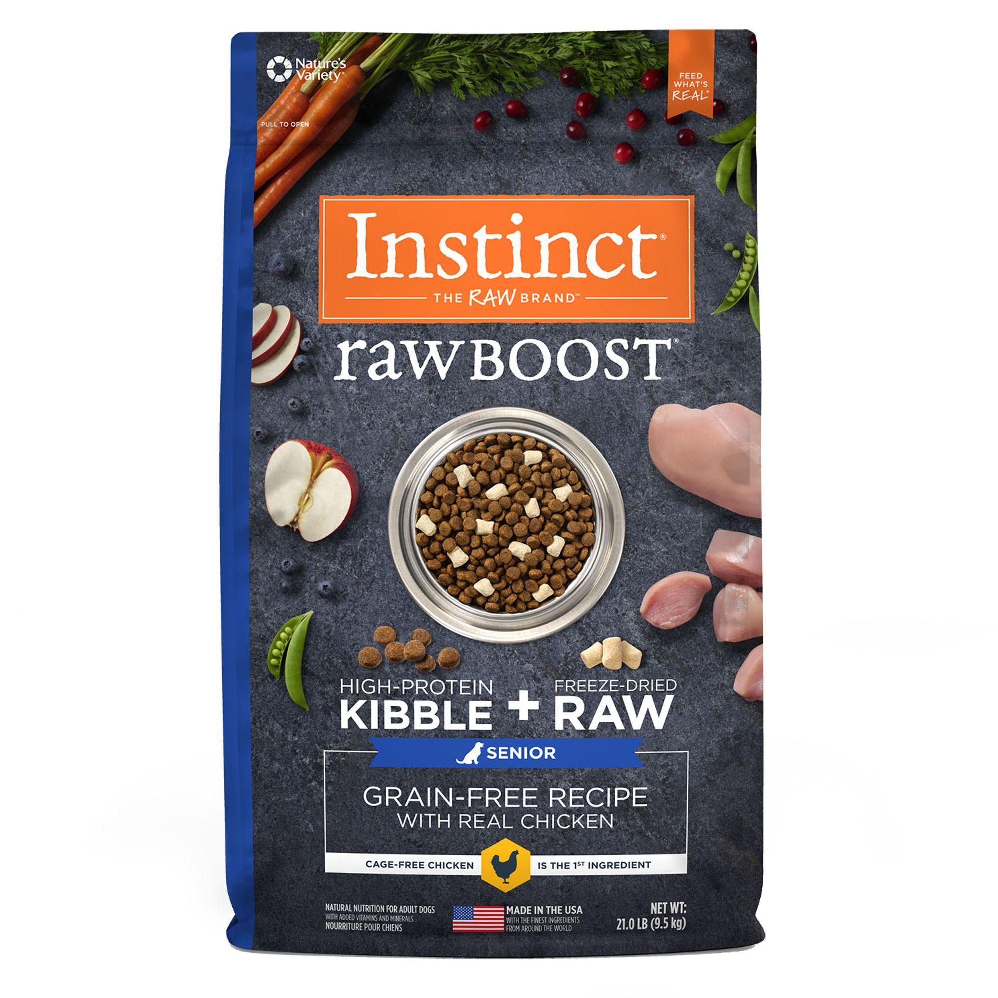 Natures variety instinct raw boost senior dog food