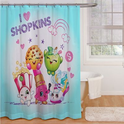 Shopkins I Love Shopkins Shower Curtain Multi Colorful Shower