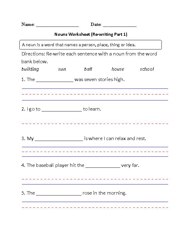 Englishlinx Nouns Worksheets Englishlinx Board