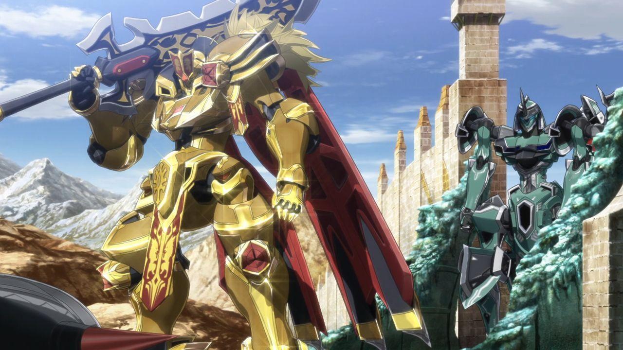 Goldleo And Tzendolg Mecha Anime Anime Movies Giant Robots