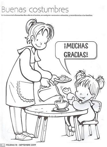 Normas De Cortesía Gracias Buenos Modales Para Niños