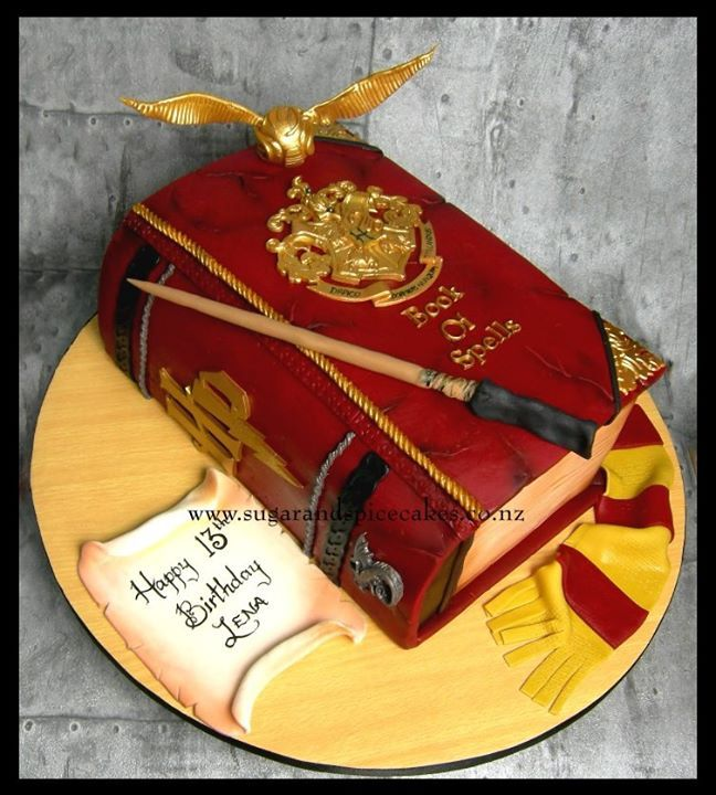 Awesome Harry Potter Spells Book Cake Harry Potter Cake Harry Potter Birthday Cake Harry Potter Food