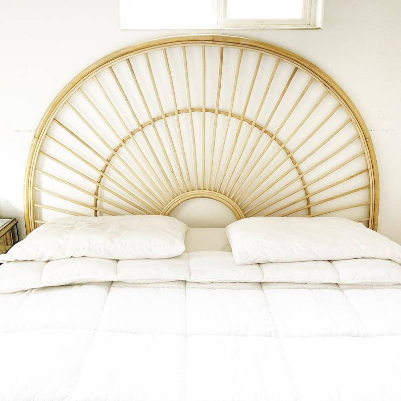 Beautiful Sunbeam Rattan Headboard King Queen Twin In 2020