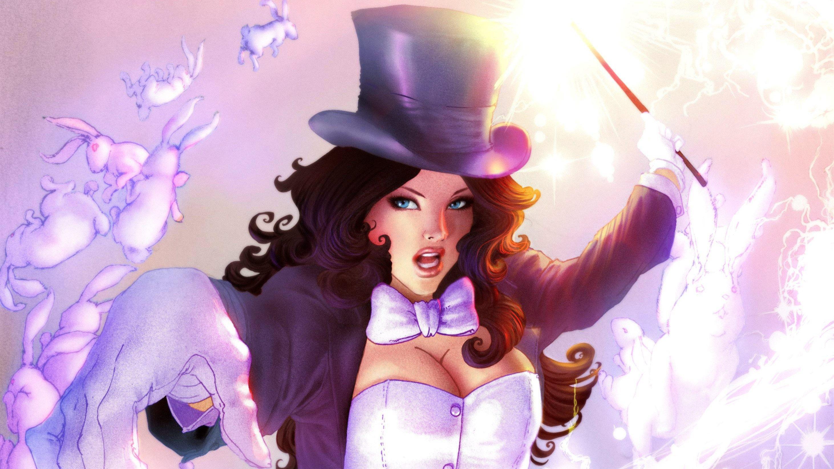 High Resolution Wallpapers Zatanna Picture Tempest Waite 2924x1645 Dc Comics Wallpaper Dc Comics Art Epic Hero