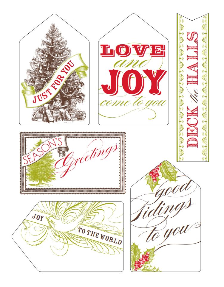 Free printable holiday gift tags all 6 varieties printable free printable holiday gift tags all 6 varieties negle Image collections
