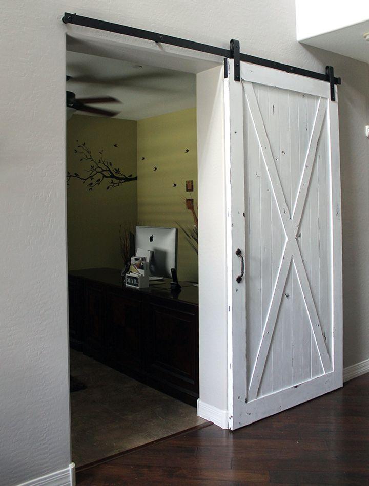 Classic White Barn Door Black Barn Door Hardware Interior Barn Doors Diy Interior Barn Doors Barn Door
