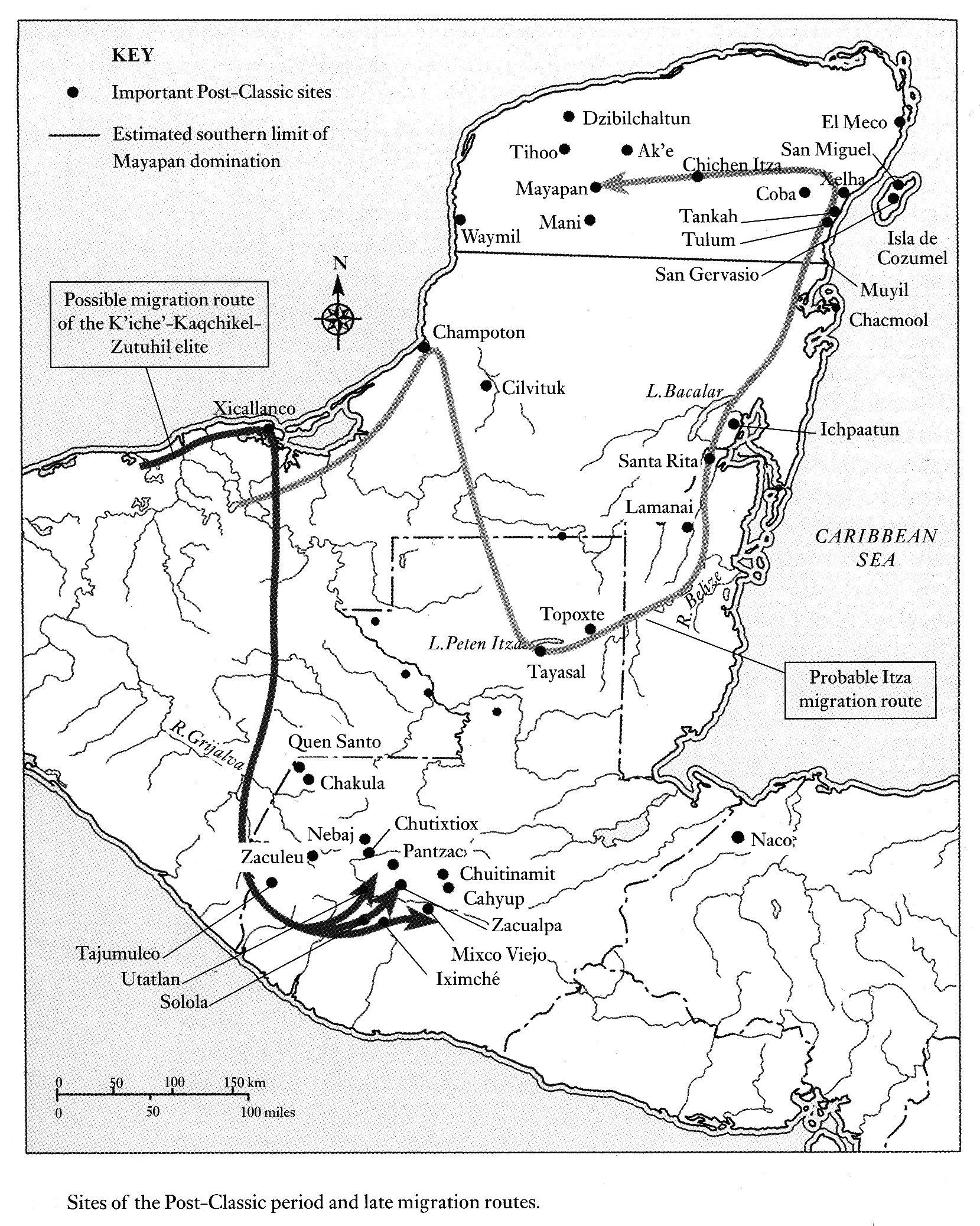 Maya Migration Routes