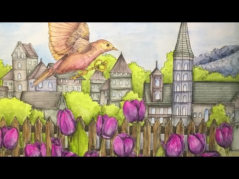 RHAPSODY IN THE FOREST - coloring with derwent inktense pencils - part 2 - YouTube