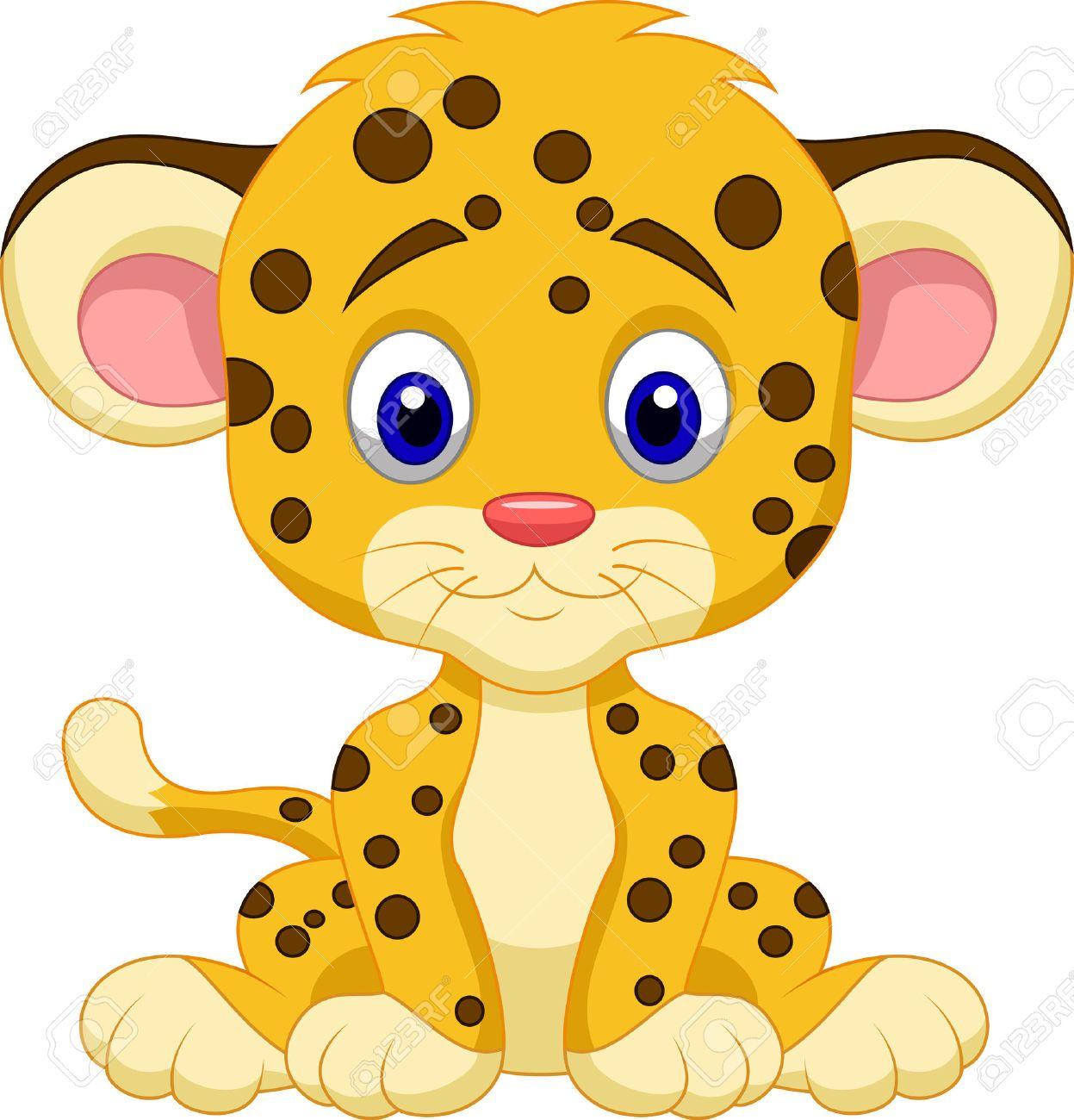Safari jungle animals clip art and safari animals - Beb 233 Leopardo De Dibujos Animados Ilustraciones