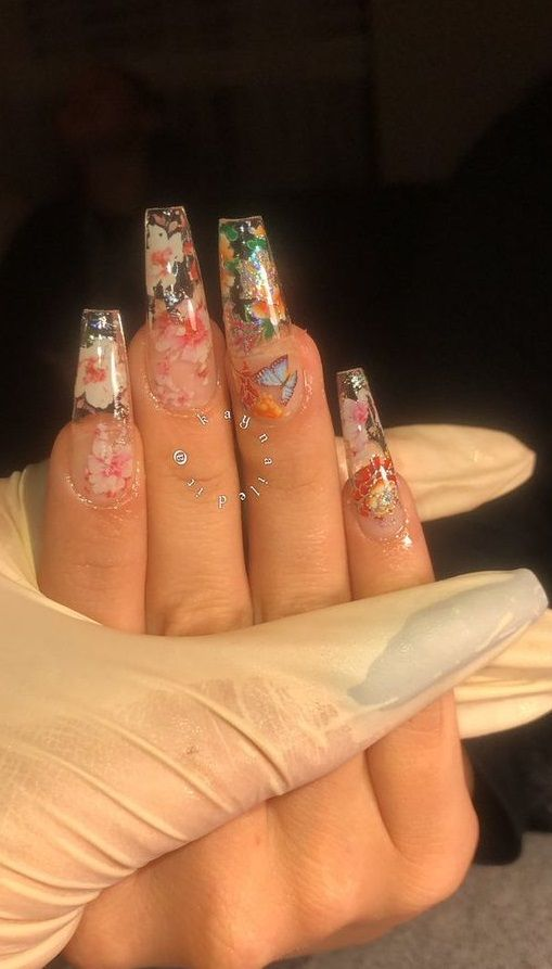 Summer Acrylic Nail Design 2020 In 2020 With Images Long Acrylic Nail Designs Cute Acrylic Nails Long Acrylic Nails