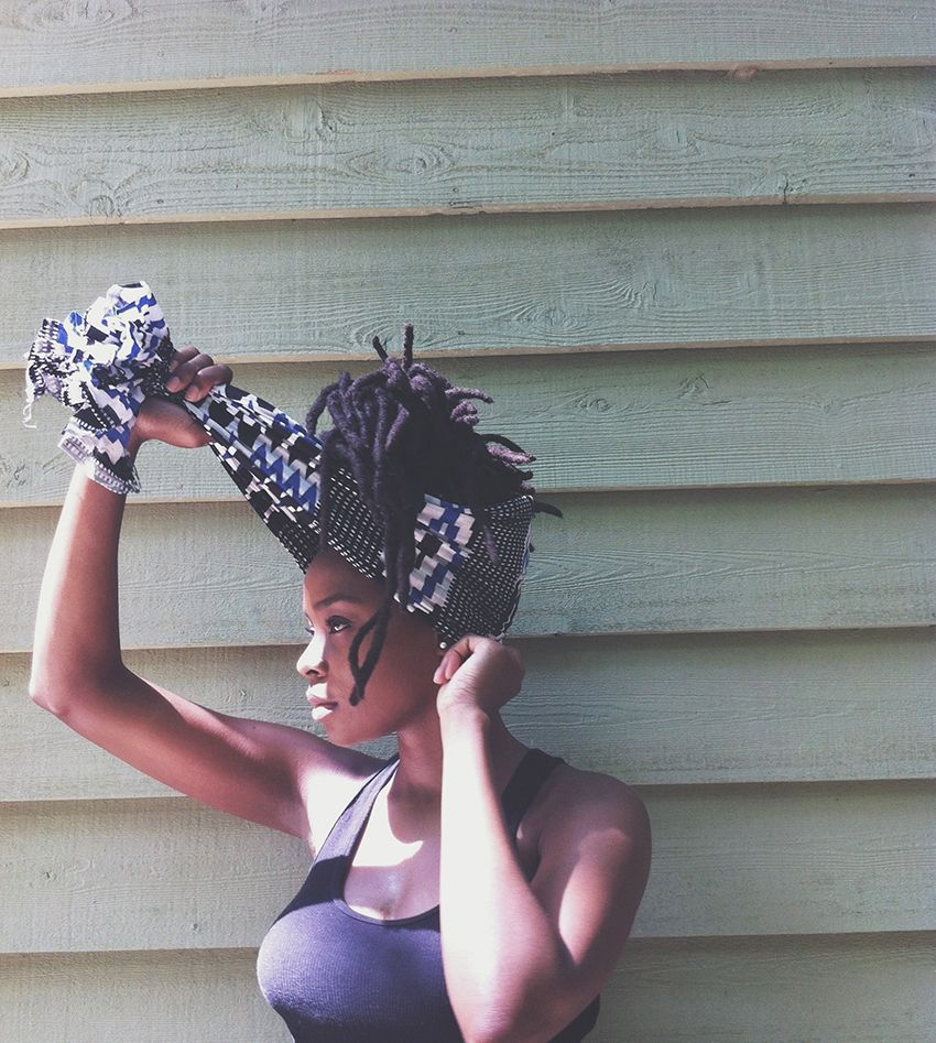 Has to be THE easiest wrap to do. Summer Headwraps No. 2 of 7 - the simple wrap on Au Courant...