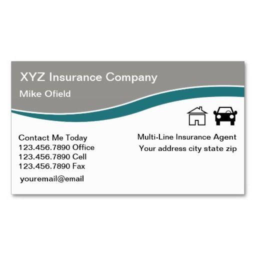Multi-Line Insurance Agent Business Card | Zazzle.com ...