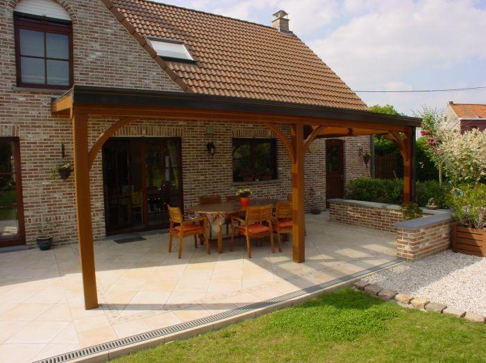 pergola bois couverte - Recherche Google | Terrasse couverte ...