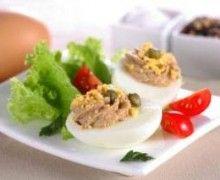 Curves Recipe Huevos Rellenos con Vegetales