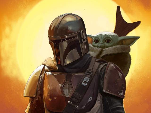 Download Baby Yoda and Mandalorian FanArt Wallpaper, TV