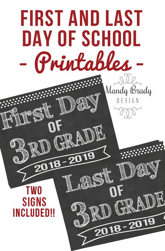 graphic regarding First Day of 3rd Grade Sign Printable titled Very first Working day of 3rd Quality Printable Signs and symptoms Past Working day of 3rd