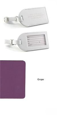 Leather Luggage Tag - Medium Open