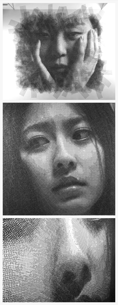 Wire Mesh Portraits \ Seung Mo Park