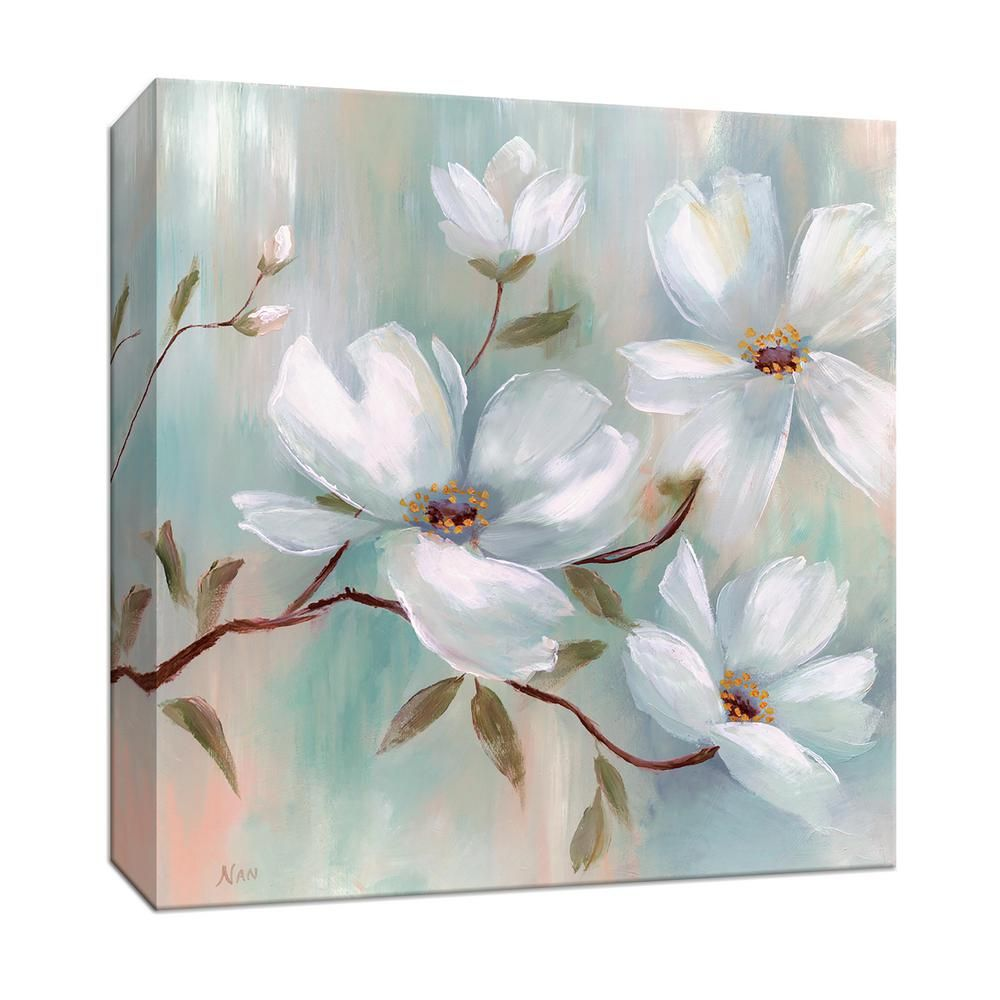 Ptm Images 15 In X 15 In Spring Blush I Canvas Wall Art Multicolored In 2020 Flower Painting Canvas Abstract Flower Painting Flower Painting