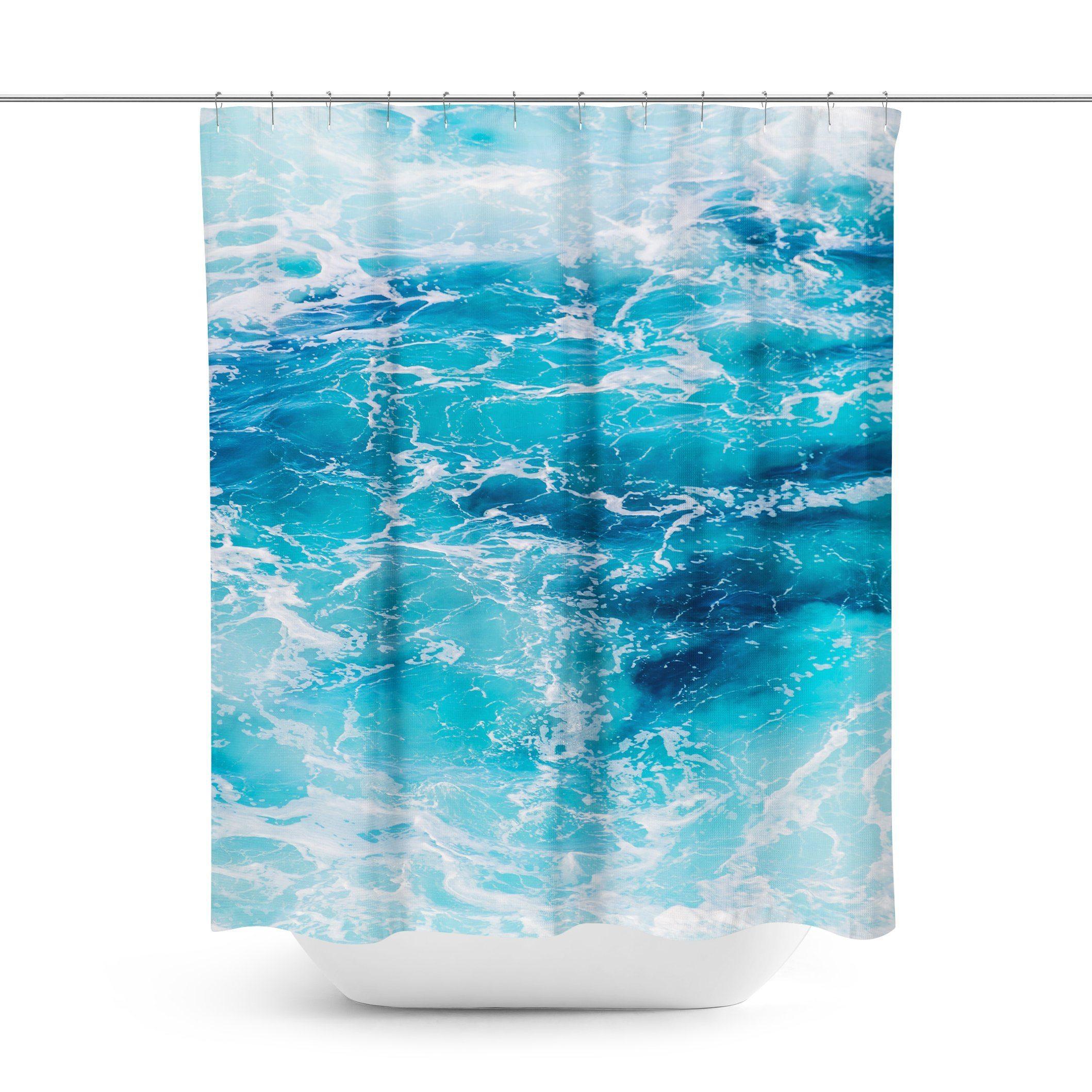 Ocean Wave Shower Curtain Curtains Ocean Waves Waves