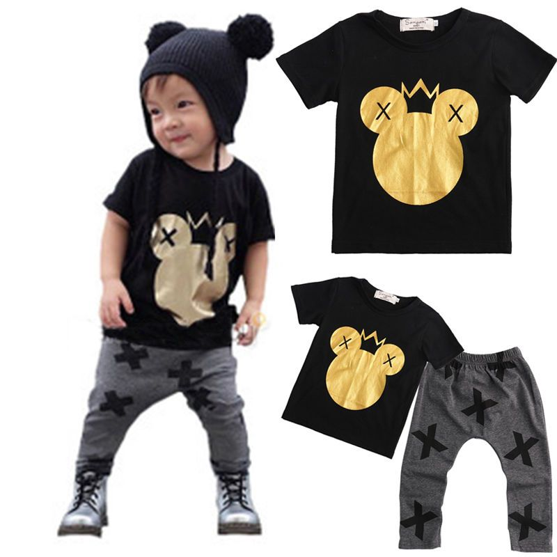 503af3466 Click to Buy    Gold Minnie Mouse Head Kids Baby Boys 2017 New ...