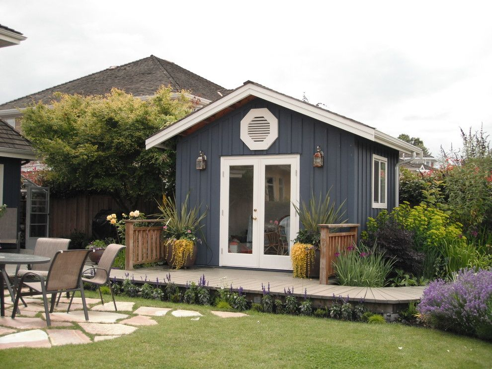 cottage perennial traditional garage and shed vancouver glenna partridge garden design
