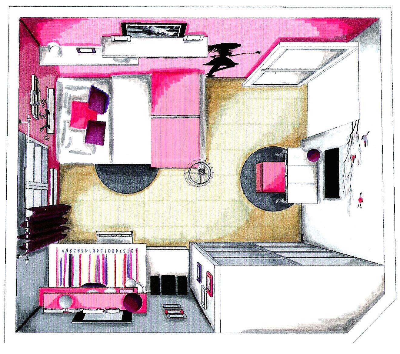 Aménagement et décoration - Chambre ado fille - 4 usages : canapé ...