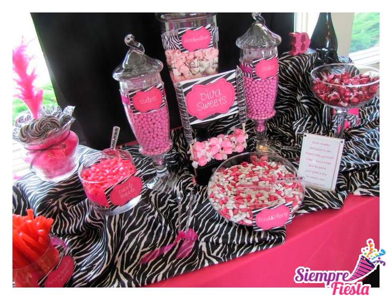 Ideas para fiesta de cumplea os de zebra print con motivos - Fiesta cumpleanos adulto ...