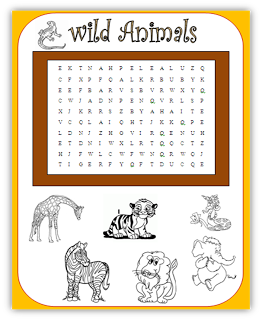 free primary animal worksheets wild animals wordsearch quick activity animals pinterest. Black Bedroom Furniture Sets. Home Design Ideas