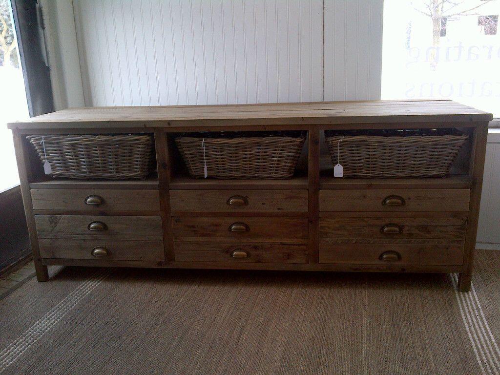 Rustic Media Cabinet Wood