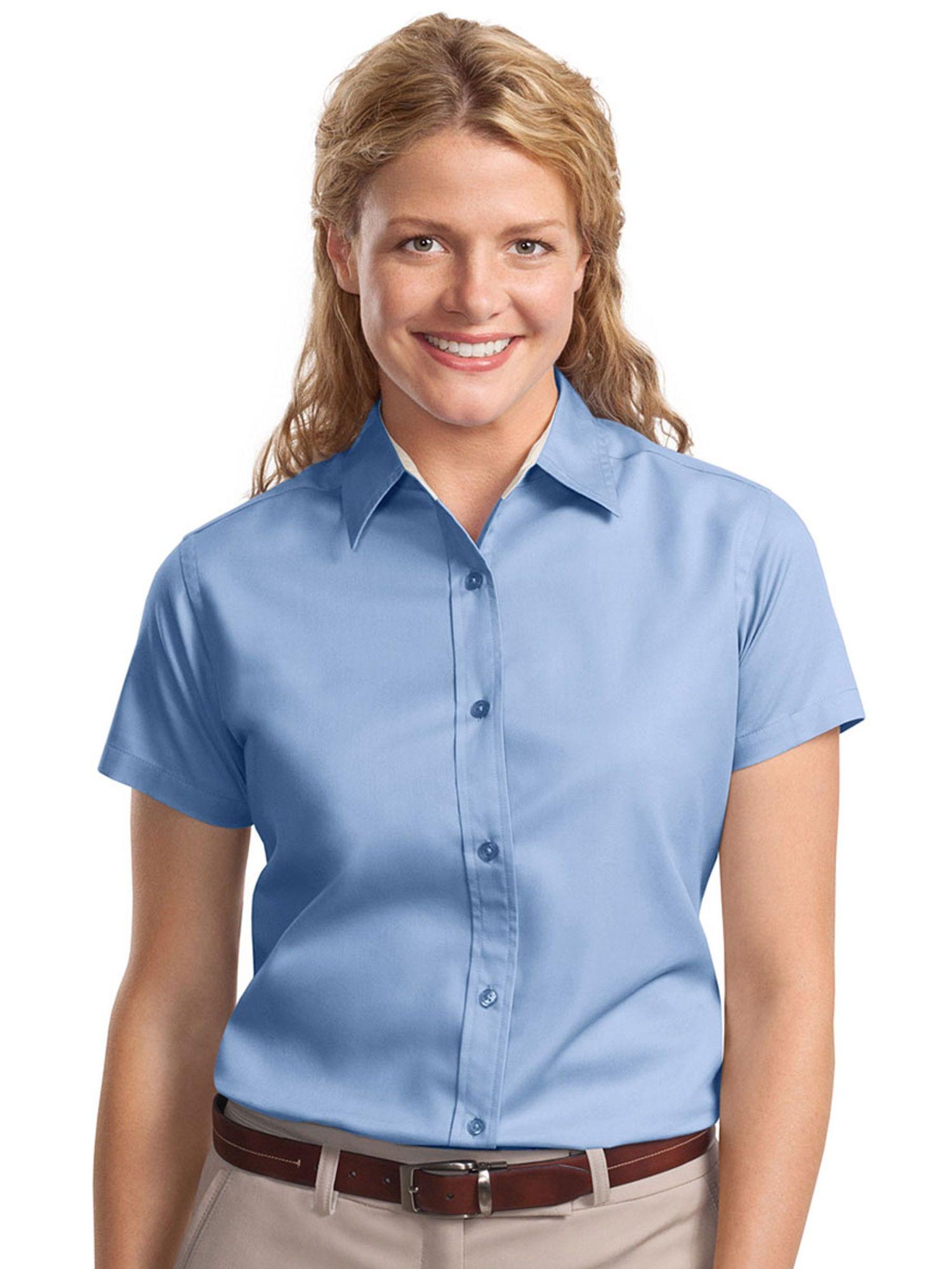 Port Authority Port Authority Women S Short Sleeve Open Collar Shirt Walmart Com In 2021 Open Collar Shirt Resistance Shirt Shirts [ 1999 x 1500 Pixel ]