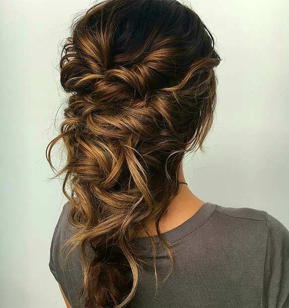 Prom Hairstyles For Long Hair Enchanting Twisted Messy Prom Hairstyle For Long Hair  Prom Hairstyles