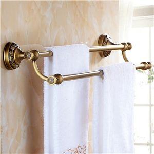 Badzubehör Handtuchhalter handtuchhalter bad wandmontage antik messing bad accessoires