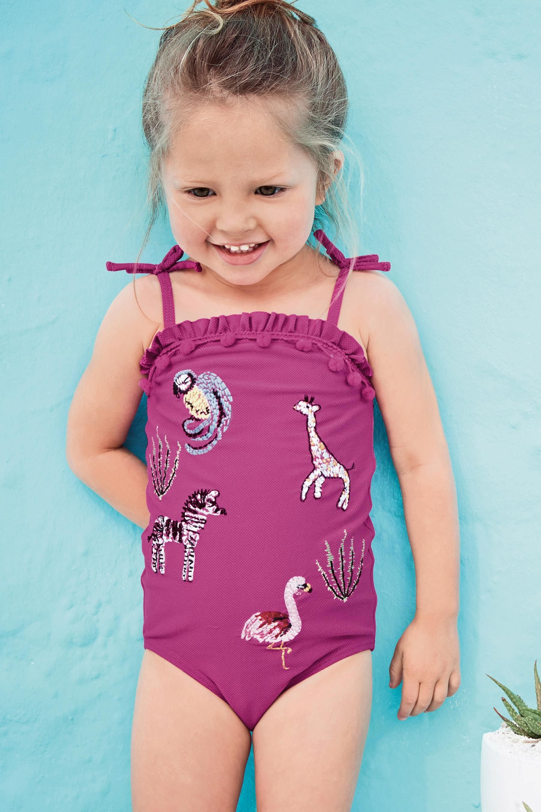 c74d4dd9d1a Buy Plum Embroidered Swimsuit (3mths-6yrs) from the Next UK online shop