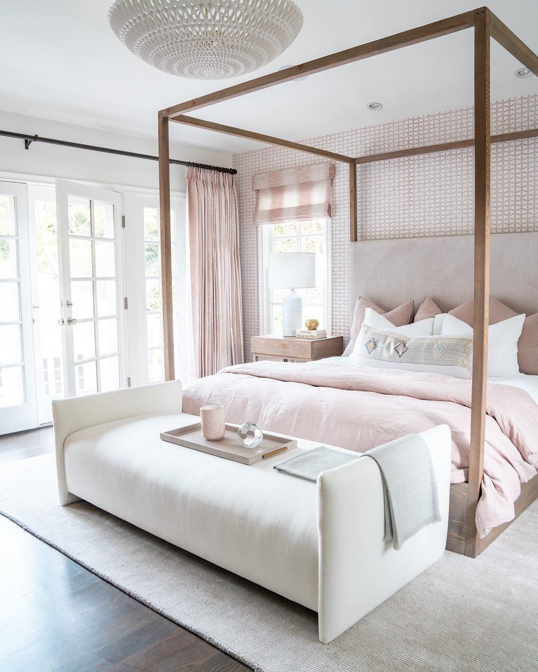 """ELLE Decor on Instagram: """"Blush tones and layered textures make"""