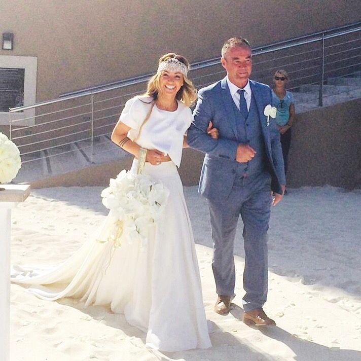 Elizabeth stuart moonflower real bride. Two piece wedding dress ...