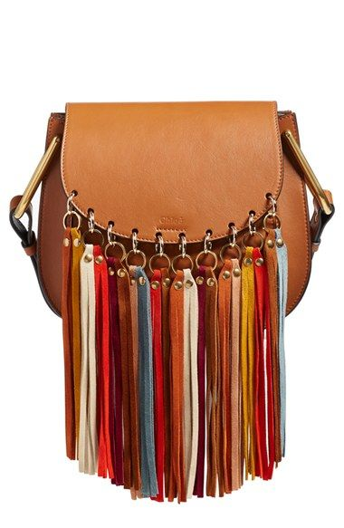 Chloé 'Small Hudson' Suede Tassels Leather Shoulder Bag available ...