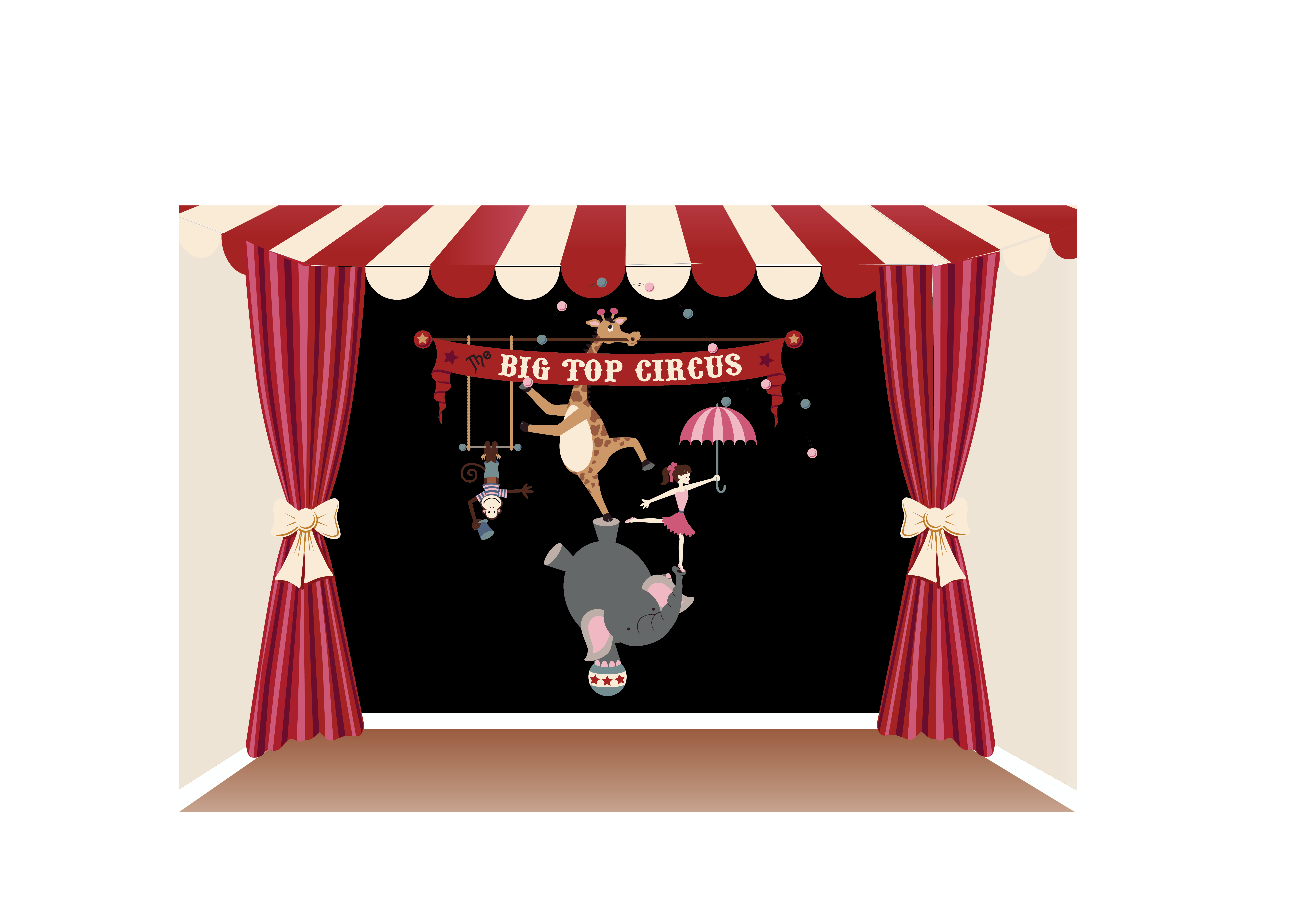 Combine our  Big Top Circus  and our  Just Curtains  murals to create  sc 1 st  Pinterest & The Big Top Circus Paint-by-Number Wall Mural | Big top circus ...