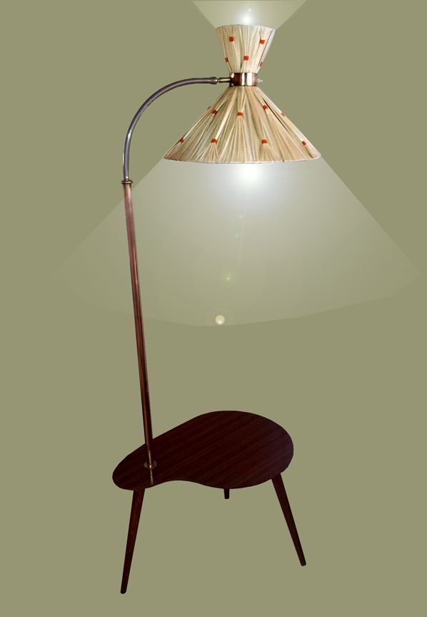 1950u0027s Atomic Floor Lamp And Kidney Table Combination | Fifties Home
