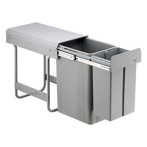 Was thinking about this for the hole where it is or under the sink. The current space is 60cm - this will take up 30cm - not leaving enough for a dishwasher but could be put under sink instead/ next to that. Wesco Built In Big Bio-Double Bin, 36L Online at johnlewis.com