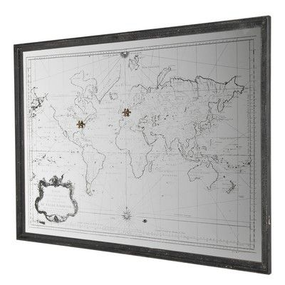 World map framed mirror architecture and furniture pinterest world map framed mirror gumiabroncs Gallery