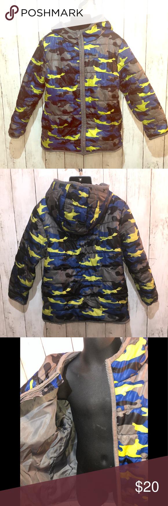 3 25 Gymboree Camo Puffer Jacket S 5 6 Floral Romper Pants Camo Puffer Jacket Baby Girl Jackets [ 1740 x 580 Pixel ]