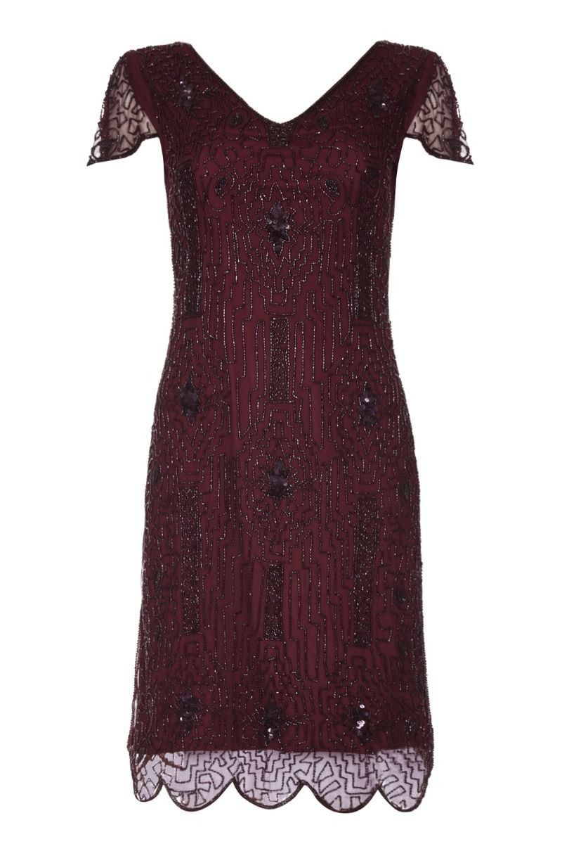 40ef125a9ac 1920 Style Beaded Dress in Plum in 2019